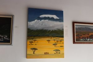 African landscape Kilimanjaro painting