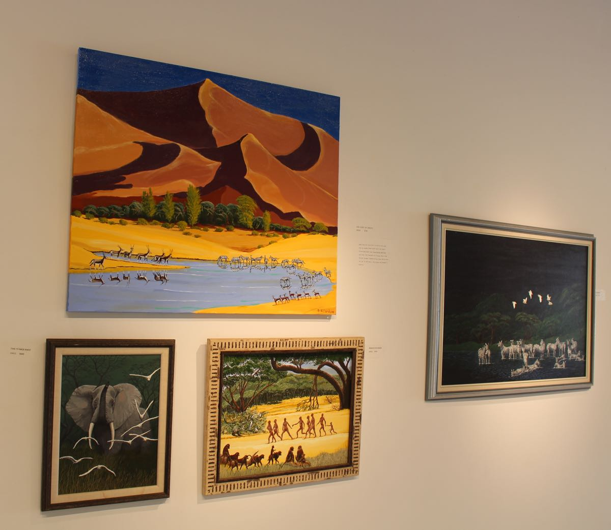 African paintings gallery showing.