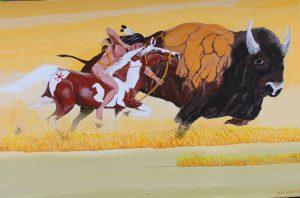 Blackfoot buffalo painting.