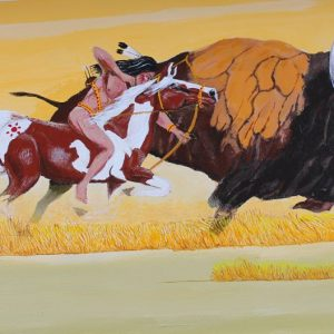 Blackfoot buffalo painting.