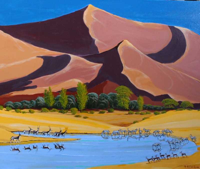 Namibian sand dunes painting other african landscape paintings here namibian sand dunes painting of namibian sand dunes sciox Image collections