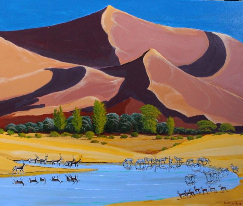 Namibian Sand Dunes Painting of Namibian Sand Dunes.