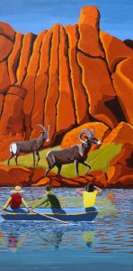 Bighorn sheep painting