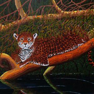 Jaguar americas wildlife painting