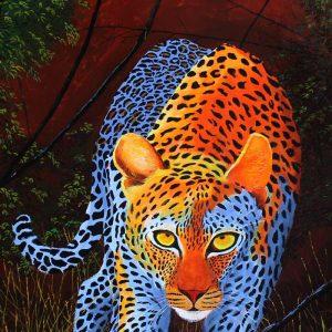 Leopard painting