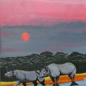 Rhinoceros painting
