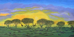African Savannah Painting