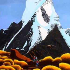 Trekking Nepal painting