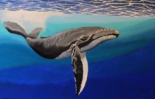 Humpback whale painting