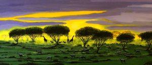 Giraffe in the Serengeti dawn